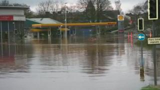 Water levels are expected to peak in Carlisle at 09:15 GMT