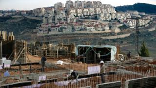 Construction work at Israeli settlement of Efrat (Feb 2016)
