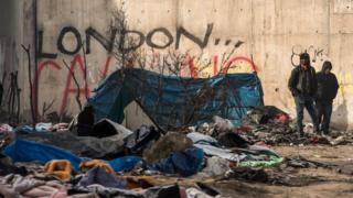 Part of the Calais camp known as Jungle that has been evacuated
