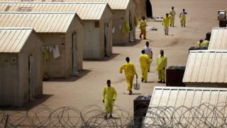 Photo taken of Camp Bucca in Iraq, taken 2008