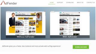 AdFender screengrab