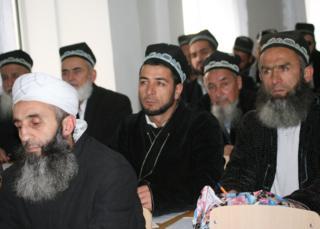 File photo: Bearded Tajik men