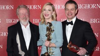 Ridley Scott, Cate Blanchett and Matt Damon