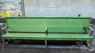 Bench at Schoenleinstrasse underground station in Berlin, file picture