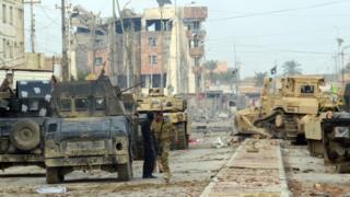 Iraqi govt forces in Ramadi (1 Jan 2016)