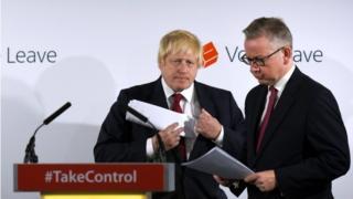 Boris Johnson (l) and Michael Gove