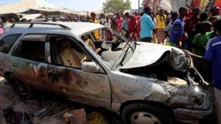 Последствия взрыва в Могадишу
