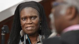 Simone Gbagbo in court in Abidjan, Ivory Coast. Photo: June 2016