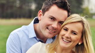 Kamil Rebacz and his fiancee Beata: