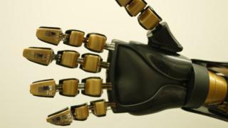 sensors on a robotic hand