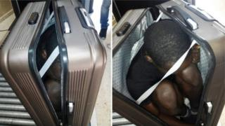 Фото найденного в чемодане мигранта