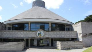 An external view of the Solomon Islands parliament building