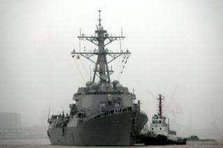 In this 8 April 2008, file photo, guided missile destroyer USS Lassen arrives at the Shanghai International Passenger Quay in Shanghai, China, for a scheduled port visit