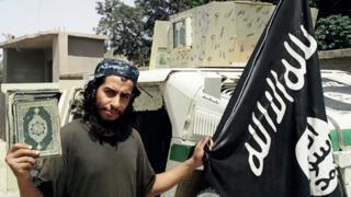 Abdelhamid Abaaoud - pic from Islamist website Dabiq, Feb 2015