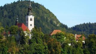 斯洛文尼亚布莱德湖城堡