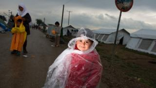 Makeshift camp for migrants near village of Idomeni, not far from Greek-Macedonian border, on May 2, 2016