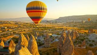 Região da Capadocia, na Turquia