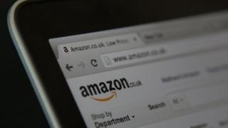 Amazon webpage
