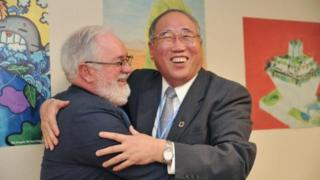 Chinese and EU delegates in Marrakech