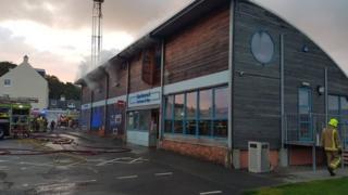 Glencaple Tea Room Fire