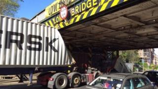 Lorry crash in Lambeth