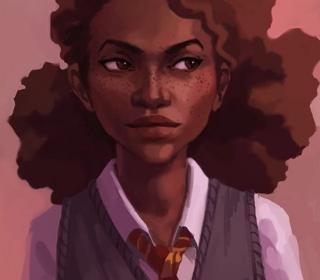 Artist Marianne Khalil's depiction of Hermione