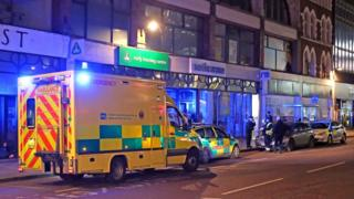 Paramedics and police were called to the scene in High Street