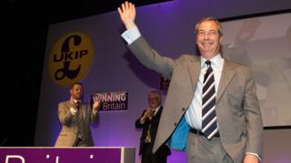 Nigel Farage makes his farewell leader's speech to the UKIP conference