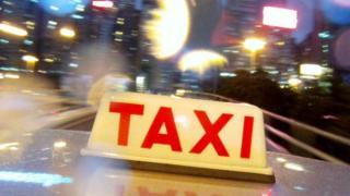 File image from Hong Kong taxi