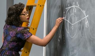 Taraji P. Henson playing Katherine Johnson in the film Hidden Figures