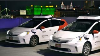 Two of Yandex's self-driving cars