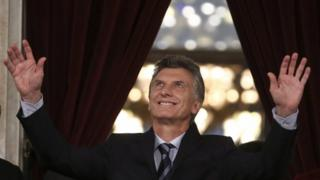 Argentine President Mauricio Macri delivers his speech during the opening of the first session of parliament in Buenos Aires, Argentina, 01 March 2016