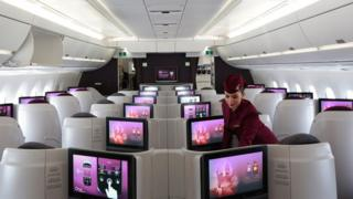 Cabina de Qatar Airways
