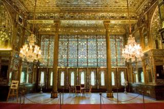 Interior of the Golestan Palace in Tehran