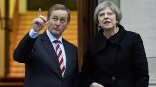 Enda Kenny and Theresa May