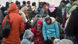 Migrants passing through Macedonia on the way to the EU
