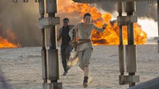 John Boyega and Daisy Ridley in Star Wars: The Force Awakens