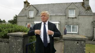 Donald Trump on a visit to Scotland in 2008