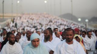 Muslim pilgrims at the Hajj (September 2015)