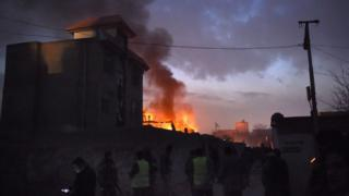 Car bomb attack at the Le Jardin restaurant in Kabul