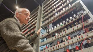 James Barr with re-built Edsac chassis