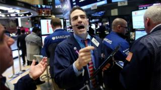 Stressed US trader