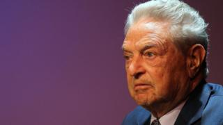 George Soros, founder and chairman of the Open Society Institute (file pic)