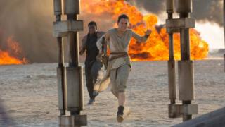 A still from Star Wars: The Force Awakens