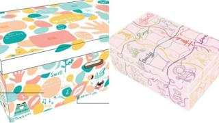 Two of the shortlisted baby boxes