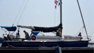 Корабль НКО Women on Waves в порту