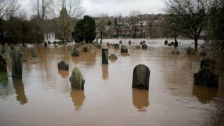 River Eden flooding in Appleby