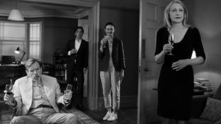 Timothy Spall, Cillian Murphy, Emily Mortimer and Patricia Clarkson in The Party
