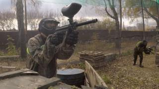 Paintballing near Moscow