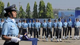 A female member of India's Air Force